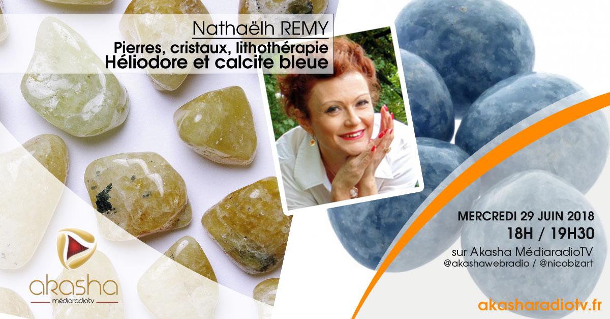 Nathaëlh REMY | Pierres et cristaux : Héliodore et calcite bleue