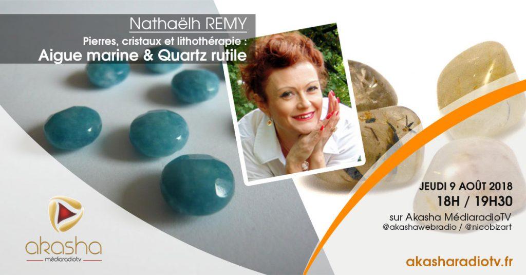 Nathaëlh REMY | Pierres et cristaux : Quartz rutile et aigue marine