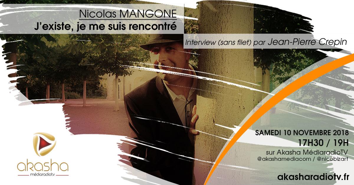 Nicolas Mangone | J'existe, je me suis rencontré