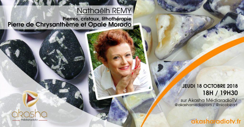 Nathaëlh REMY   Pierres et cristaux : Pierre de Chrysanthème et Opale Morado