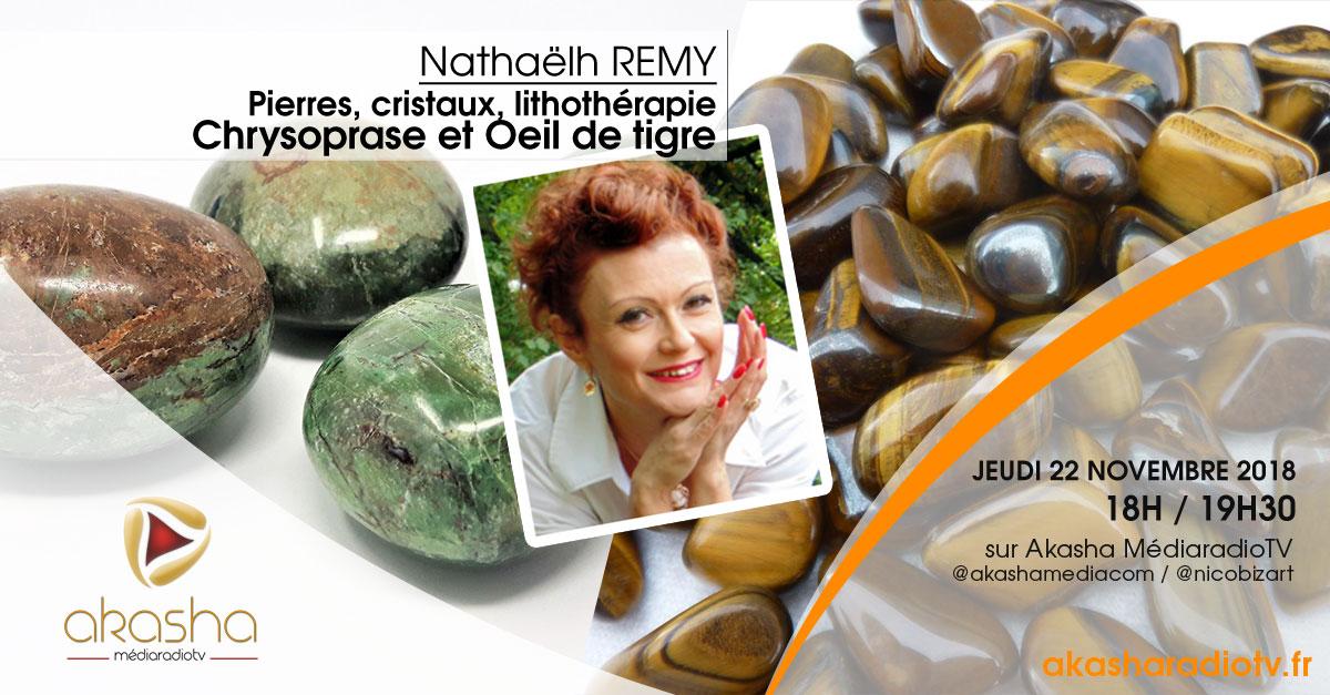 Nathaëlh REMY | Pierres et cristaux, Chrysoprase et Oeil de tigre