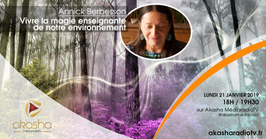 Annick Berbesson   Vivre la magie enseignante de notre environnement