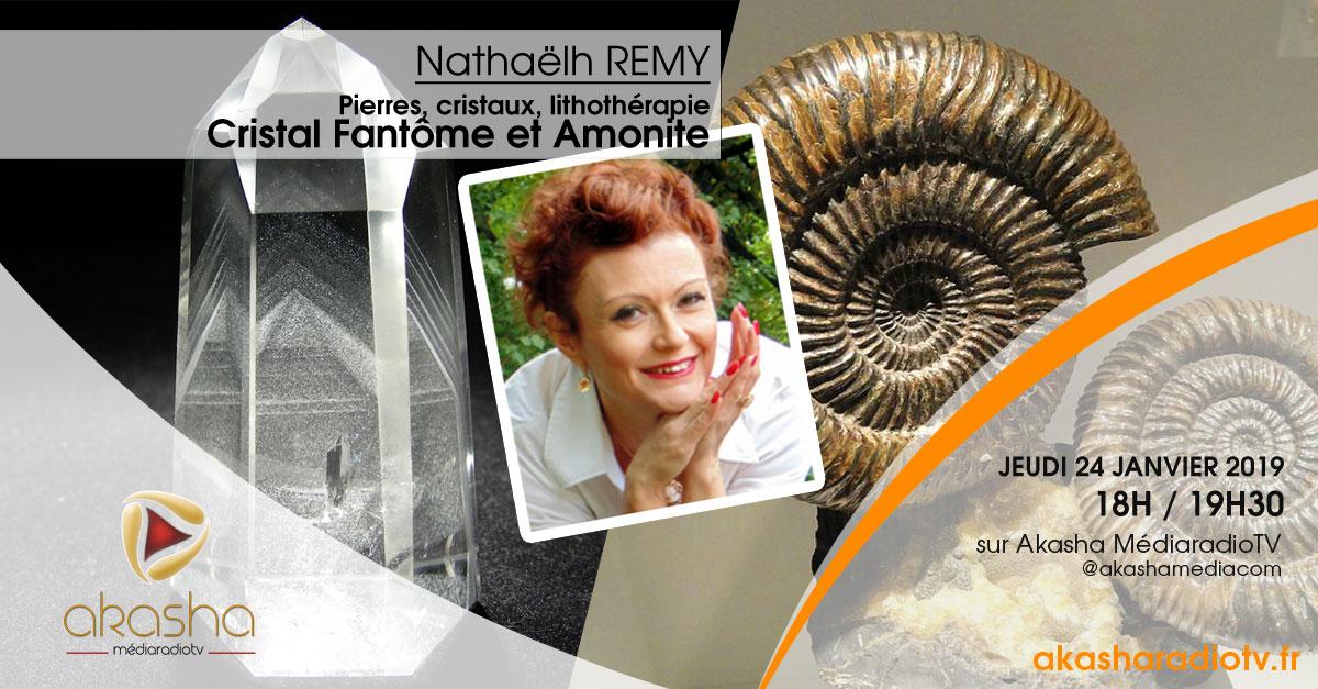 Nathaëlh Remy | Cristal fantôme et Amonite