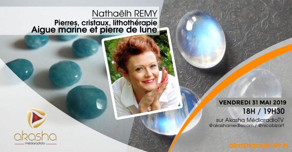 Nathaëlh Remy   Aigue Marine et pierre de lune